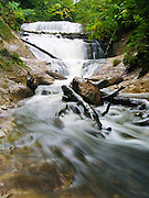 Sable Falls flows smoothly in Pictured Rocks National Lakeshore on the Upper Peninsula of Michigan, USA.