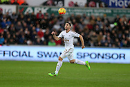 Angel Rangel of Swansea city  in action. Barclays Premier league match, Swansea city v Crystal Palace at the Liberty Stadium in Swansea, South Wales on Saturday 6th February 2016.<br /> pic by Andrew Orchard, Andrew Orchard sports photography.