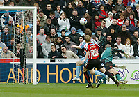 Photo: Kevin Poolman.<br />Coventry City v Sheffield United. Coca Cola Championship. 11/03/2006. <br />Gary McSheffrey scores his goal and Coventry's first.