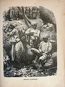 Indian Laborers from The merchant vessel : a sailor boy's voyages to see the world [around the world] by Nordhoff, Charles, 1830-1901 engraved by C. LaPlante; some illustrations by W.L. Wyllie Publisher New York : Dodd, Mead & Co. 1884