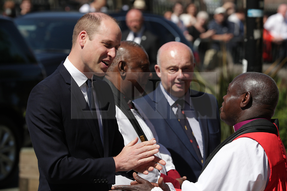 © Licensed to London News Pictures . 22/05/2018. Manchester, UK. PRINCE WILLIAM arrives at Manchester Cathedral for a Service of Remembrance on the first anniversary of the Manchester Arena bombing . On the evening of 22nd May 2017 The first anniversary of the Manchester Arena bombing . On the evening of 22nd May 2017 , Salman Abedi murdered 22 people and seriously injured dozens more , when he exploded a bomb in the foyer of the Manchester Arena as concert-goers were leaving an Ariana Grande gig . Photo credit: Joel Goodman/LNP