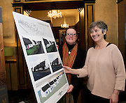 Repro FREE Janet O Toole, Connemara West with Catherine Connolly TD  at the launch of Connemara West's  ambitious International Residential Education Centre at a briefing in the Hotel Meyrick, Galway . The Centre, in the village of Tullycross, County Galway will consist of a state-of-art newly built education hub with a 50 seat auditorium; a wifi-enabled library; group study/breakout rooms; video conferencing facilities; meeting rooms; a conference room; community meeting rooms and a coffee dock. <br /> The accommodation part of the Centre will be made up of the renovated iconic 9 thatched cottages in Tullycross village, Connemara West's first project in 1973, and will hold up to 40 students and faculty.<br /> Photo:Andrew Downes, xposure