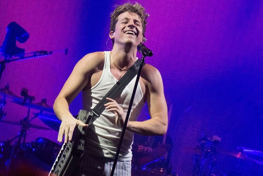 Charlie Puth performs at the Huntington Bank Pavilion at Northerly Island for his Voicenotes Tour.