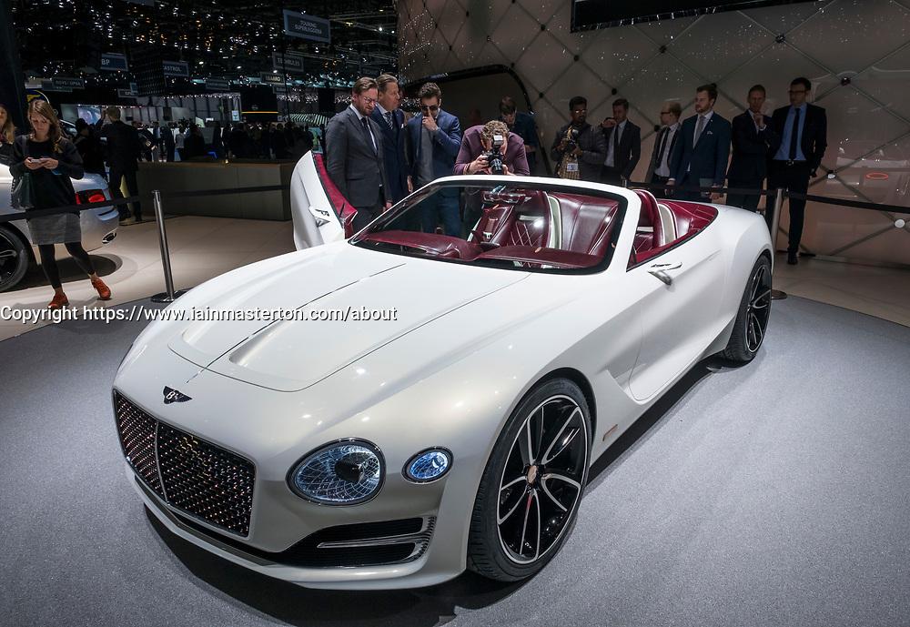 Bentley Concept at 87th Geneva International Motor Show in Geneva Switzerland 2017