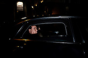 Former Premier Silvio Berlusconi, arrive by the car into headquarters of  Forza Italia to attend a meeting of party. Rome, 3 december 2013. Christian Mantuano / OneShot