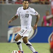 USA midfielder Jermaine Jones (13) dribbles during a CONCACAF Gold Cup soccer match between the United States and Panama on Saturday, June 11, 2011, at Raymond James Stadium in Tampa, Fla. (AP Photo/Alex Menendez)