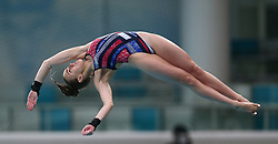 BEIJING, March 9, 2019  Lois Toulson of Britain competes during the women's 10m platform semifinal at the FINA Diving World Series 2019 at the National Aquatics Center in Beijing, capital of China, March 9, 2019. (Credit Image: © Caocan/Xinhua via ZUMA Wire)