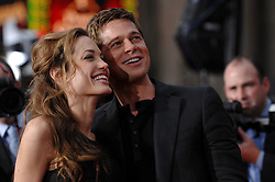 """Angelina Jolie and Brad Pitt attend the premiere of Warner Bros' """"Ocean's 13"""" at the Grauman's Chinese Theater in Hollywood. Los Angeles, June 5, 2007. (Pictured: Angelina Jolie, Brad Pitt). Photo by Lionel Hahn/ABACAPRESS.COM"""