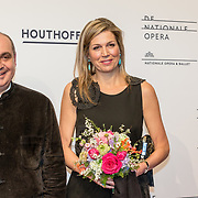 "NLD/Amsterdam/20180418 - Koning en Koningin bij premiere ""Gurre-Lieder"", Koningin Maxima en Pierre Audi"