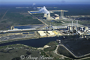 nuclear power plant provides warm water discharge, which attracts manatees in winter, Crystal River, Florida, USA, North America