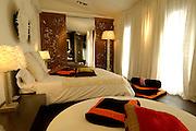 Spanien Spain,Mallorca Balearen....Palma de Mallorca....Puro Hotel, Zimmer, Bett....Hotel Puro, room, bed........