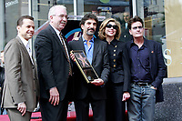 3/12/2009 Charlie Sheen and others join Chuck Lorre and Chuck's Walk of Fame Ceremony