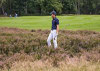 HILVERSUM - Netherlands vs Italy (1-2) . Dutch Jerry Ji r his ball is in the heather.  . Quarter finals. ELTK Golf 2020 The Dutch Golf Federation (NGF), The European Golf Federation (EGA) and the Hilversumsche Golf Club will organize Team European Championships for men.  COPYRIGHT KOEN SUYK