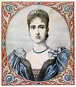Princess Alexandra (Alix) of Hesse, fiance of Tsar Nicholas II of Russia when he succeeded to his throne on l November 1894. She took the name of Alexandra Feodorovna on marriage. From 'Le Petit Journal', Paris, 1894. Novembeer 1894.