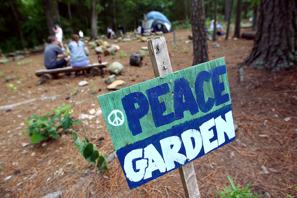 The peace garden at the Wild Goose Festival at Shakori Hills in North Carolina June 24, 2011.  (Photo by Courtney Perry)