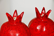 Ceramic pomegranates. In many cultures, the pomegranate is a symbol of prosperity and fertility, in the Jewish culture it is one of the symbols of the New Year