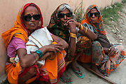 Bihar India March 2011. Akhand Jyoti Eye hospital, Mastichak. Cataract patients come back after 2 weeks for revision.