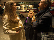 CORNELIA TISCHMACHER; SUSANNE PFEFFER; ANDREAS GEYNER, Opening of Morris Lewis: Cyprien Gaillard. From Wings to Fins, Sprüth Magers London Grafton St. London. Afterwards dinner at Simpson's-in-the-Strand hosted by Monika Spruth and Philomene Magers.