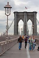 brooklyn bridge in New York City October 2008