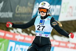Alexandra Kustova of Russia during 2nd Round at Day 1 of World Cup Ski Jumping Ladies Ljubno 2019, on February 8, 2019 in Ljubno ob Savinji, Slovenia. Photo by Matic Ritonja / Sportida