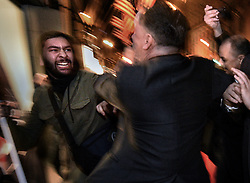 January 19, 2017 - Washington, DC, U.S - Protesters and supporters clash during the ''Deploraball'' on the eve of President Donald Trump's inauguration in Washington, D.C., on Jan. 19, 2017. (Credit Image: © Carol Guzy via ZUMA Wire)
