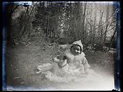 toddler with dog portrait France 1921
