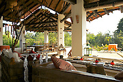 Lounge and Dining area at Flame of the Forest, Kanha National Park, India