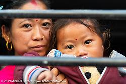 Passengers in the Bhaktapur Bus Depot in Kathmandu. Thursday, November 14, 2019. Photography ©2019 Michael Lichter.
