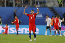 July 3, 2017 - Saint Petersburg, Russia - Mauricio Isla of Chile national team reacts during FIFA Confederations Cup Russia 2017 final match between Chile and Germany at Saint Petersburg Stadium on July 2, 2017 in Saint Petersburg, Russia. (Credit Image: © Mike Kireev/NurPhoto via ZUMA Press)