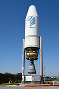 A Delta III Rocket in the Parking Lot of The Discovery Cube in Orange County