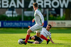 Dion Gerritsen of VV Maarssen in action. Friendly match against EDO and Maarssen lost the home match with 3-0 on 20 August 2020 in Maarssen.