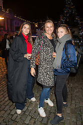 SARAH JONES and her daughters  at the launch of Skate at Somerset House in association with Fortnum & Mason held at Somerset House, The Strand, London on 17th November 2015.
