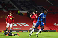 Football - 2020 / 2021 Premier League - Manchester United vs Everton - Old Trafford<br /> <br /> Abdoulaye Doucoure of Everton celebrates scoring his sides first goal to make the score 2-1<br /> <br /> COLORSPORT/PAUL GREENWOOD