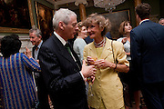 Earl of Wemyss and March; LINDY GUINNESS, MARCHIONESS OF DUFFERIN AND AVA; , David Campbell and Knopf host the 20th Anniversary of the revival of Everyman's Library. Spencer House. St. James's Place. London. 7 July 2011. <br /> <br />  , -DO NOT ARCHIVE-© Copyright Photograph by Dafydd Jones. 248 Clapham Rd. London SW9 0PZ. Tel 0207 820 0771. www.dafjones.com.