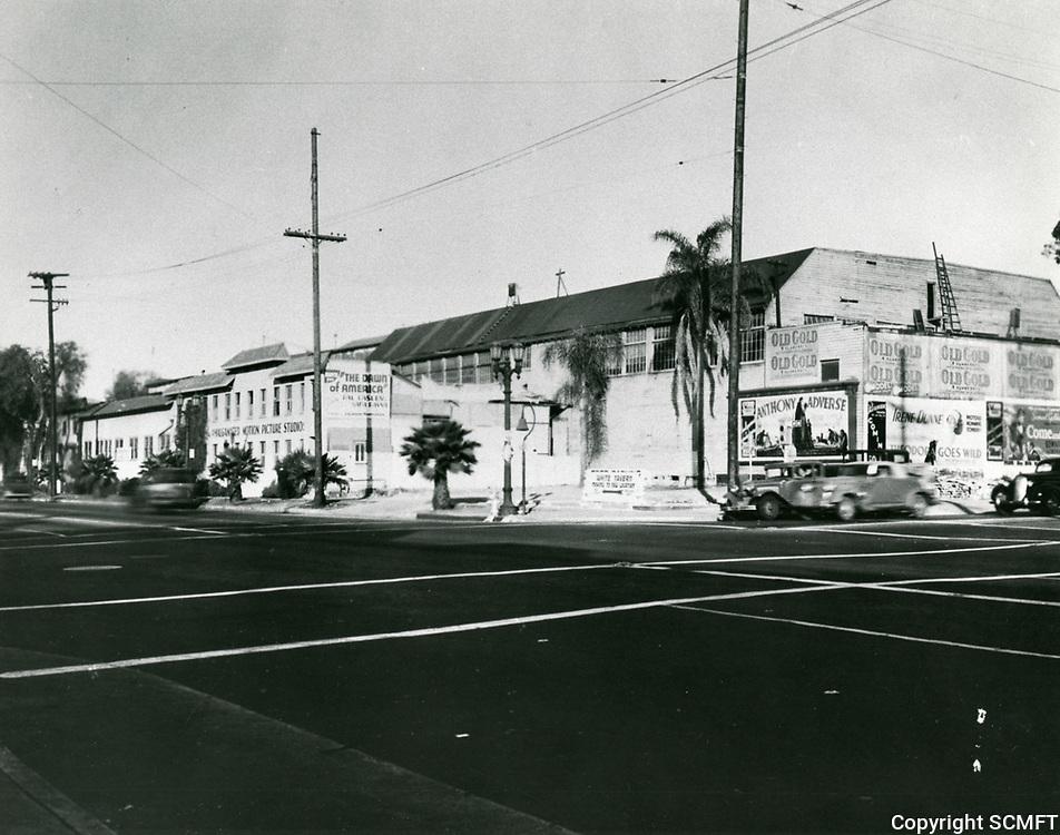 1936 Amalgamated Studios at Sunset & Gower
