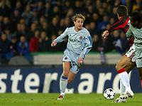 Fotball<br /> UEFA Champions League 2003/2004<br /> 04.11.2003<br /> Club Brügge / Brugge v AC Milan<br /> Nastja Ceh - Brugge<br /> Foto: Morten Olsen, Digitalsport