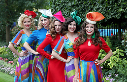 The Tootsie Rollers arriving during day one of Royal Ascot at Ascot Racecourse.