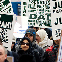 Aish wife of  Lockerbie bomber Abdelbaset Ali al-Megrahi marches on Edinburghs Royal Mile in a demonstration to highlight alleged miscarriages of justice...04/12/2008.Picture Michael Hughes/Maverick