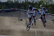 #174 (DEROM Quentin) FRA and #69 (GODET Damien) FRA at the 2016 UCI BMX Supercross World Cup in Papendal, The Netherlands.