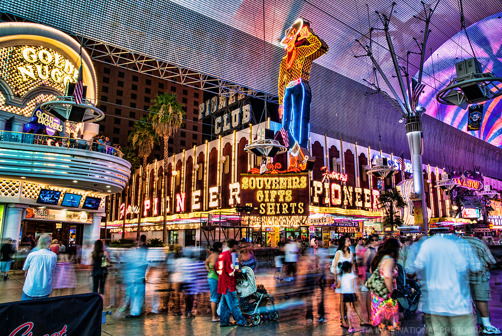 """Vegas Vic"" Neon Cowboy Sign, Fremont Street Experience"