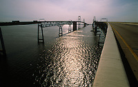 Annapolis, Maryland--The Chesapeake Bay Bridge is a major bridge in the state of Maryland; spanning  5 miles across the Chesapeake Bay, it connects the state's Eastern and Western Shore regions. It is officially named the William Preston Lane, Jr. Memorial Bridge after William Preston Lane, Jr. who, as governor of Maryland, implemented its construction.
