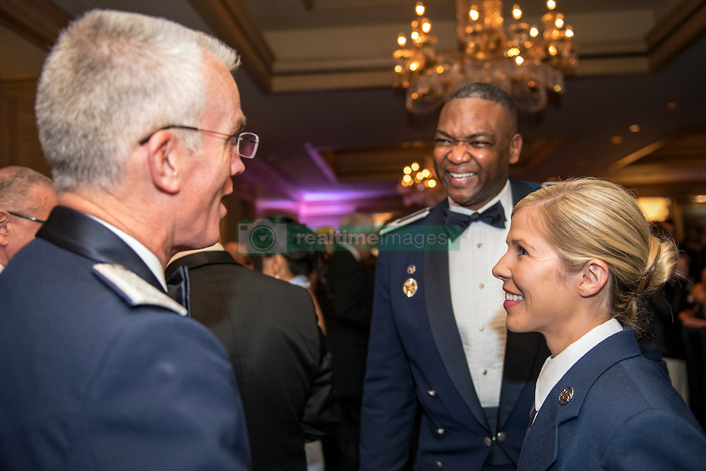 U.S. Air Force Gen. Paul J. Selva, Vice Chairman of the Joint Chiefs of Staff, meets Senior Airman Linda M. Wilson, the Air Force awardee, before the 2018 Armed Services YMCA Angels of the Battlefield Awards Gala in Arlington, Va., Oct. 2, 2018. The gala honored medics, corpsmen and pararescuemen who demonstrated extraordinary courage while administering life-saving medical treatment and trauma care on the battlefield. (DoD Photo by U.S. Army Sgt. James K. McCann)