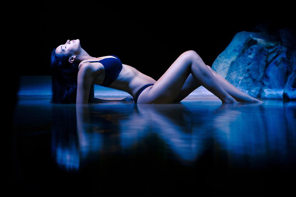 Swimsuit Model shot at Beach Resort at Night in Cabo San Lucas, Mexico. ©justinalexanderbartels.com