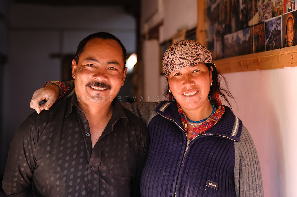 Ladakhi couple in Lamayuru, Ladakh, India