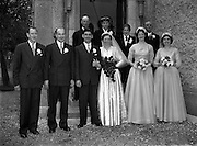 30/03/1957<br /> 03/30/1957<br /> 30 March 1957<br /> Wedding of Lee - Hill at Finglas Parish Church (Church of Ireland) and the Spa Hotel, Lucan, Dublin. Wedding party outside the church.