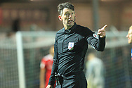 Lee Probert Referee  during the EFL Sky Bet League 1 match between Rochdale and Accrington Stanley at Spotland, Rochdale, England on 24 November 2018.