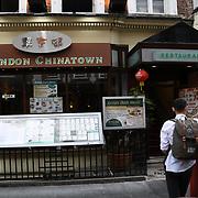 London Chinatown  Chinese restaurants in Chinatown London on July 19 2018, UK
