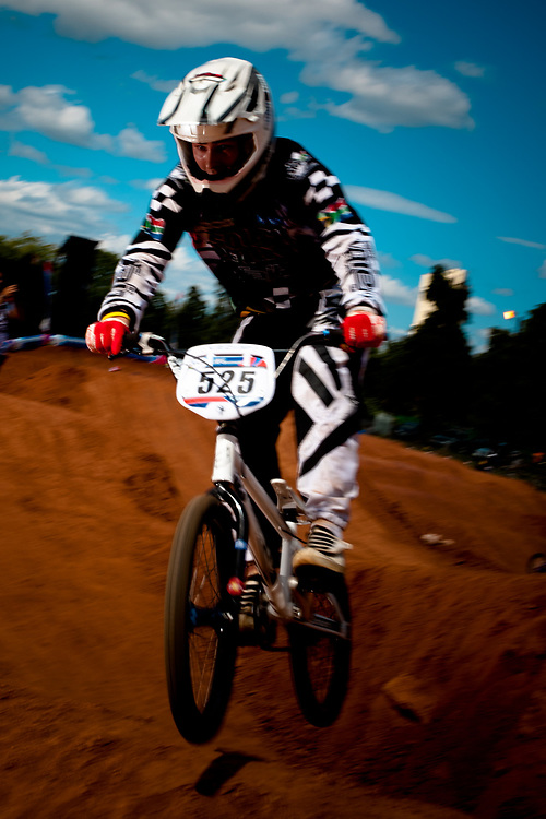 Gavin Lubbe (RSA) during the practice session at the  UCI BMX Supercross World Cup, Pietermaritzburg, 2011