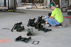 Central Connecticut State University.  New Academic Building.  Project No: BI-RC-324 Contractor: Gilbane Building Company, Glastonbury, CT. Date of Photograph: 19 June 2012 Image No. 73. Camera View: Plumber preparing Fixures for installation.