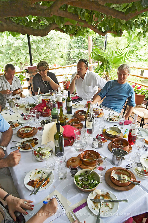 Rakokazano restaurant in Strantza village near Naoussa. Macedonia, Greece.